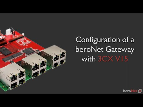 How to configure a VoIP gateway with 3CX v15
