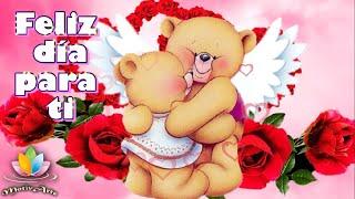 Feliz  y bendecido día para ti 🌹🌹Buenos días con bonito mensaje  y lindas rosas🌹🌹