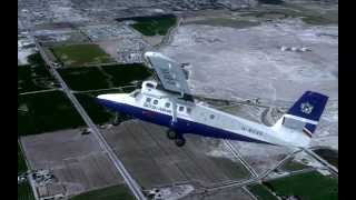 British Airways Twin Otter skin test