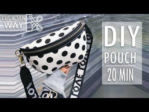 DIY FANTASTIC DESIGN POUCH BAG // Zipper Belt Free Hands Bag Idea In 20 Min
