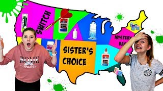 Throwing a Dart at a Map and Made SLIME Challenge    Taylor and Vanessa