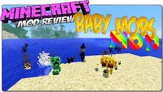 BABY MOBS MOD MINECRAFT 1.8 ESPAÑOL | Mobs bebes con habilidades mortíferas | MINECRAFT MODS