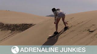 Daredevils Ride Down Sand Dunes