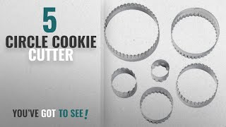 Best Circle Cookie Cutter [2018]: Wilton 417-2581 6-Piece Nesting Fondant Double Sided Cut Out