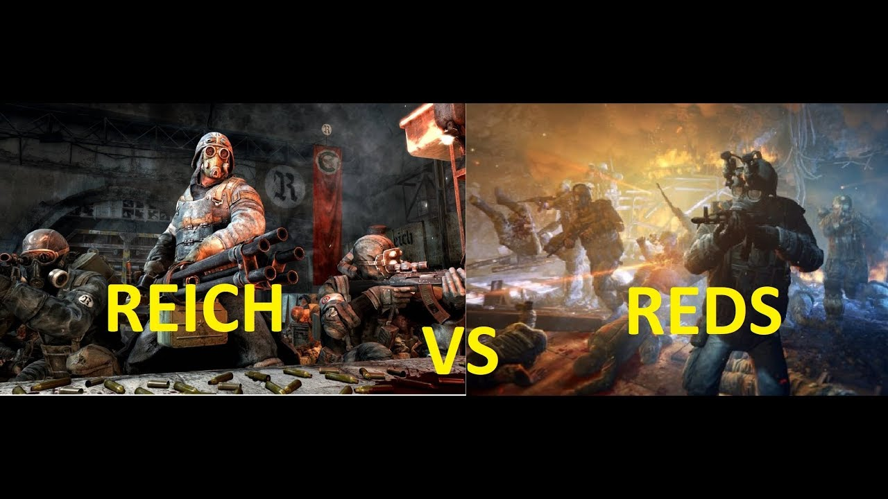 COMMUNIST REDLINE VS FASCIST REICH - METRO FIGHTS - YouTube