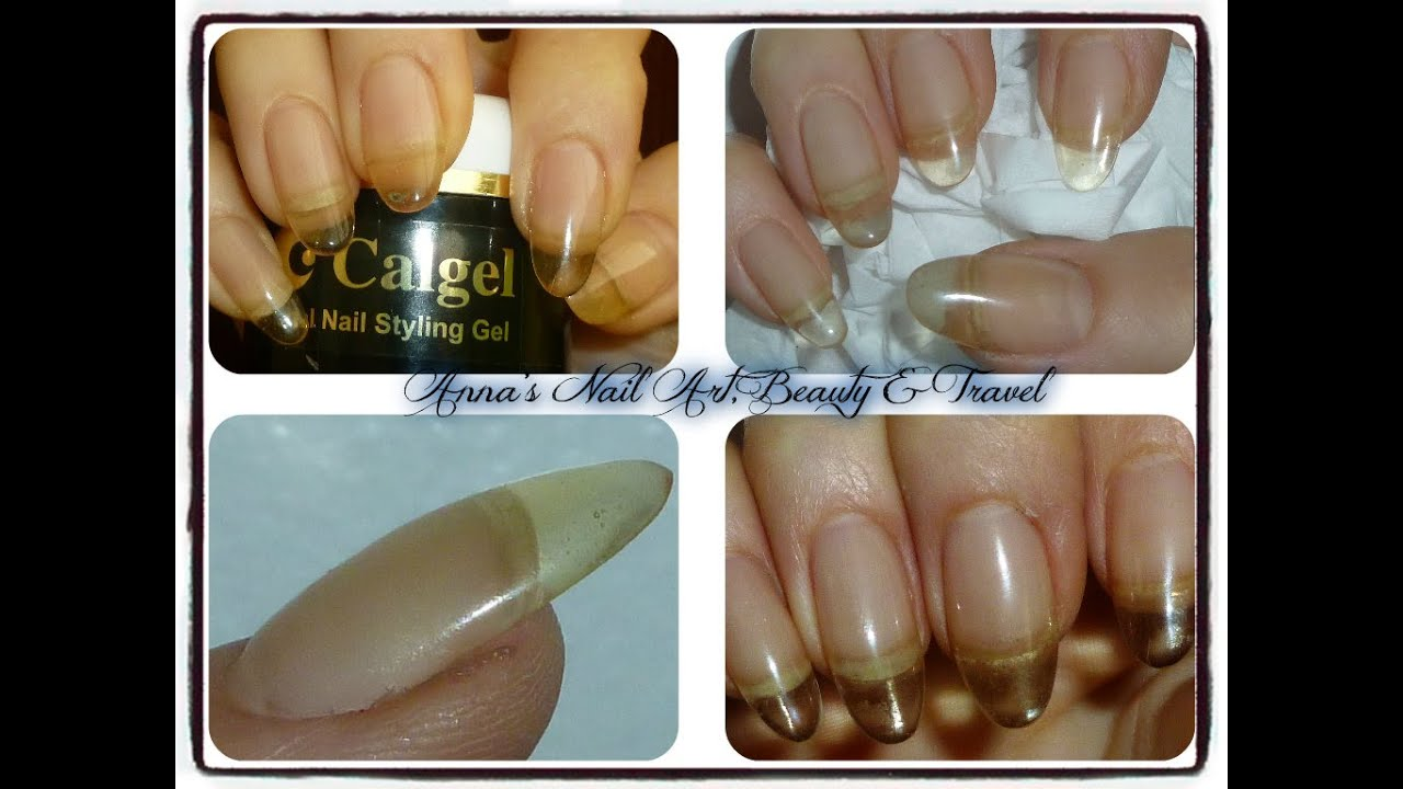 How To Sculpt Almond Nails With Calgel Soak Off Gel