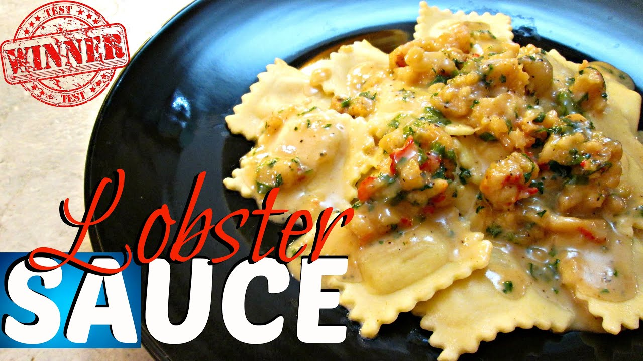 Lobster Sauce Recipe - with Four Cheese Ravioli's - PoorMansGourmet - YouTube