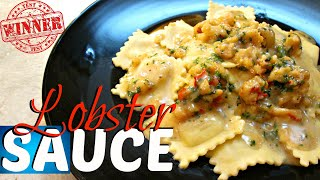 Lobster Sauce Recipe - with Four Cheese Raviolis - PoorMansGourmet