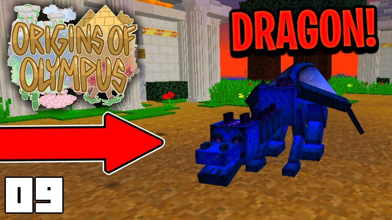 FIGHTING A DRAGON (Minecraft Origins of Olympus Season 2 Roleplay)