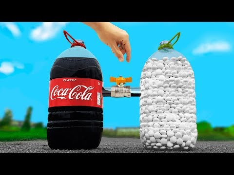 Experiment: Coca Cola And Mentos In A Bottles