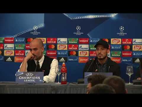Napoli-Manchester City, Guardiola e David Silva in conferenza (31-10-2017)