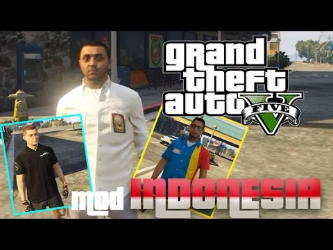 GTA V MOD INDONESIA - SERAGAM INDONESIA & INDOMARET STORE (GTA V PC Mod Review)