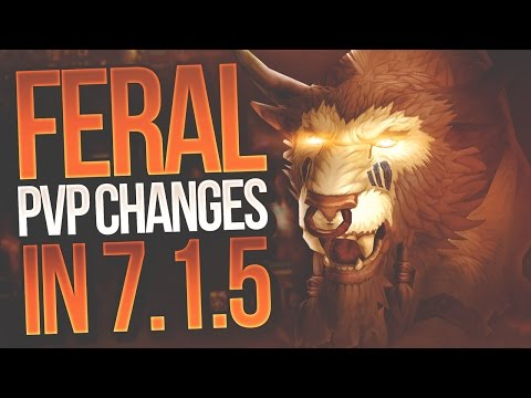 Feral Druid PvP Changes in 7.1.5 with BSX