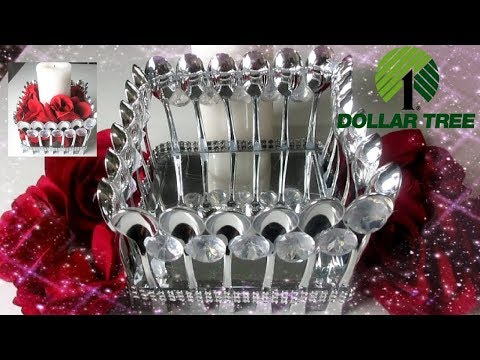DIY BLING DOLLAR TREE CANDLE HOLDER| GLAM CANDLE HOLDER
