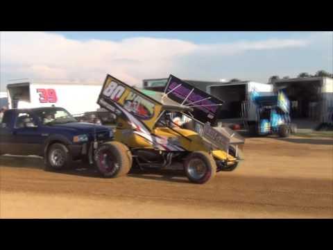 Trail-Way Speedway 358 Sprint Car Highlights 7-01-16