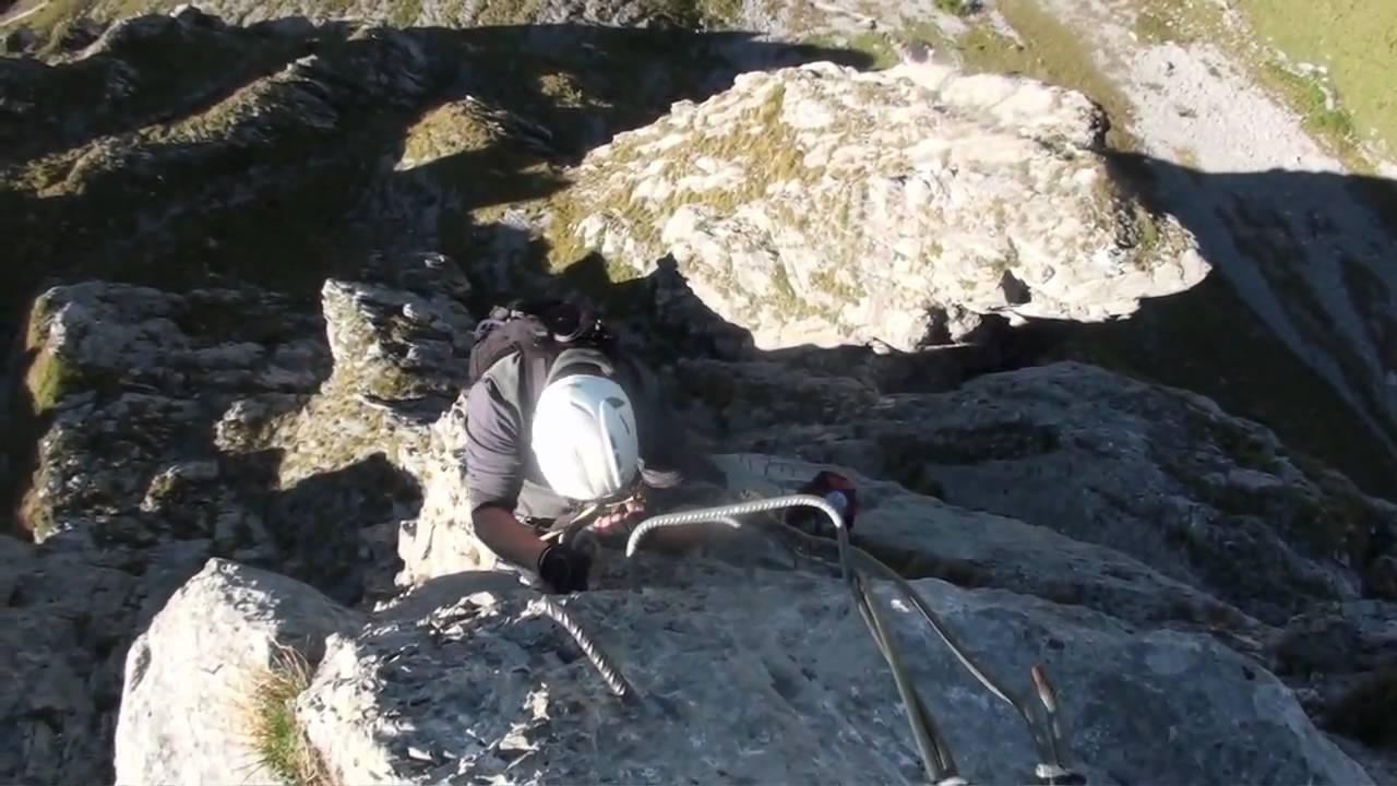 Klettersteig Zittergrat : Klettersteig zittergrat engelberg okt youtube