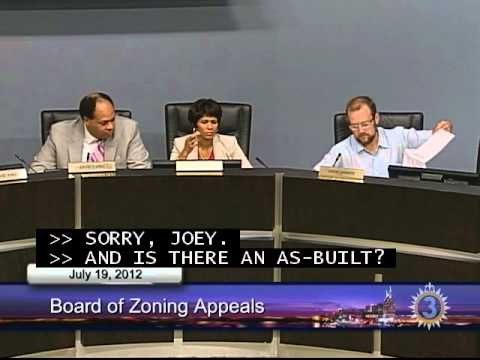 07/19/12  Board of Zoning Appeals Meeting