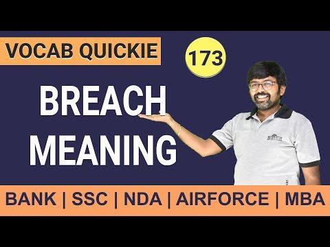 Breach Meaning | Learn English Grammar | English Vocab | English grammar for IBPS PO 2019