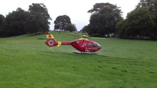 Air ambulance helimed 181 landing