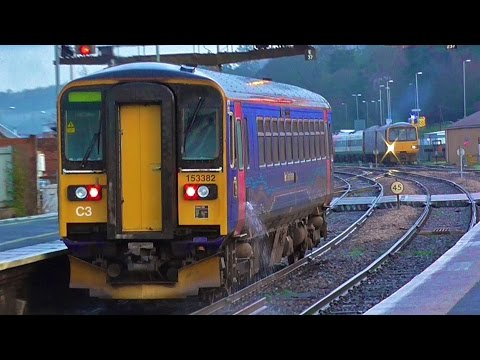 Trains At Exeter St Davids - Monday 11th January 2016