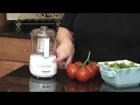 Cuisinart Mini Prep Plus Food Processor Dlc 2a Demo Video Youtube