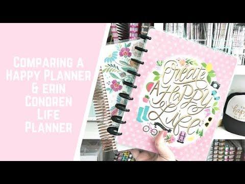 Comparing a Happy Planner & Erin Condren Life Planner
