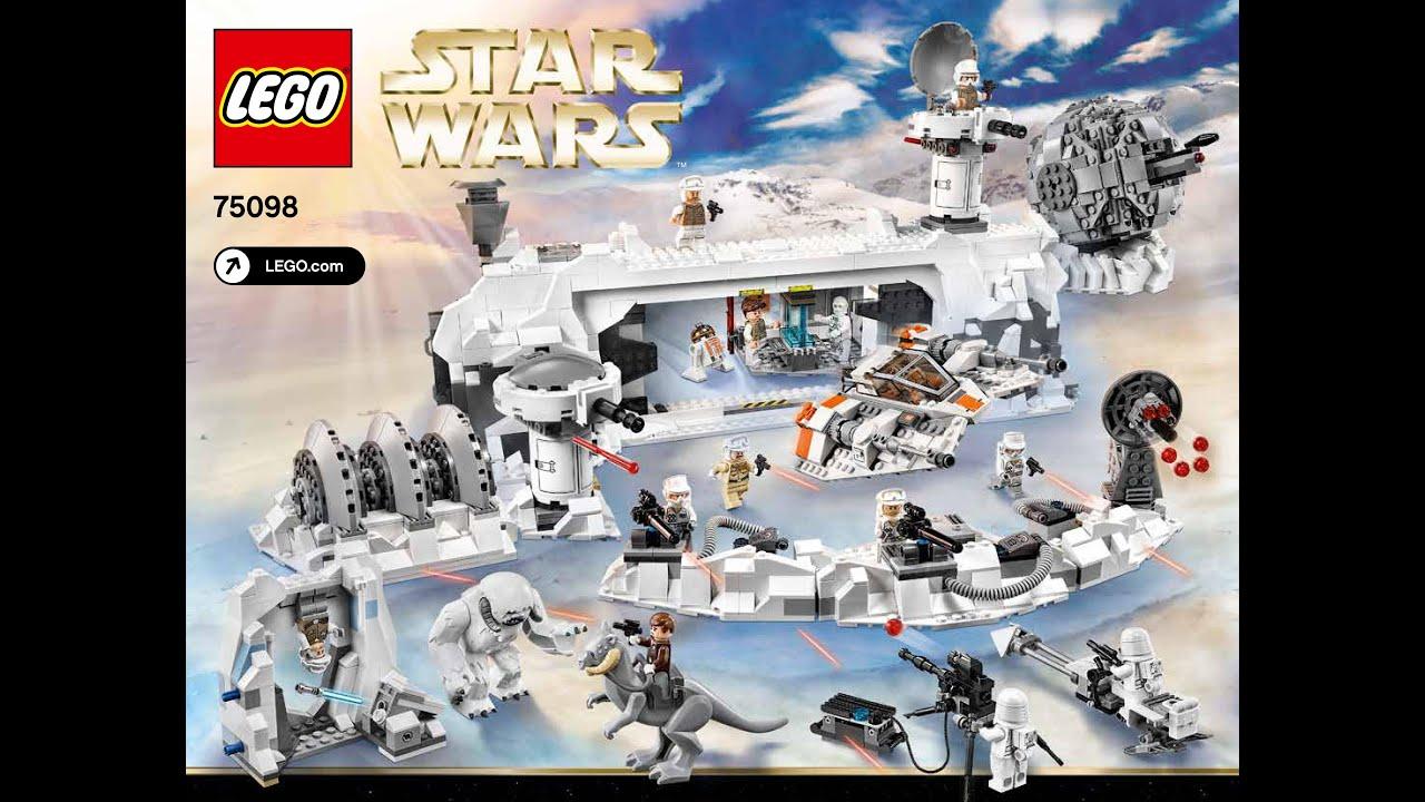 Lego Star Wars Assault On Hoth Instructions Diy Han Solo Echo Base