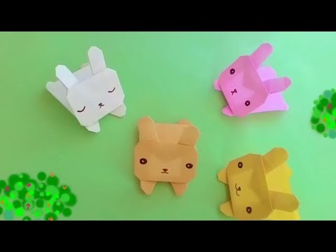 Origami  BUNNY    Origami For Kids    Step By Step Easy Learnig