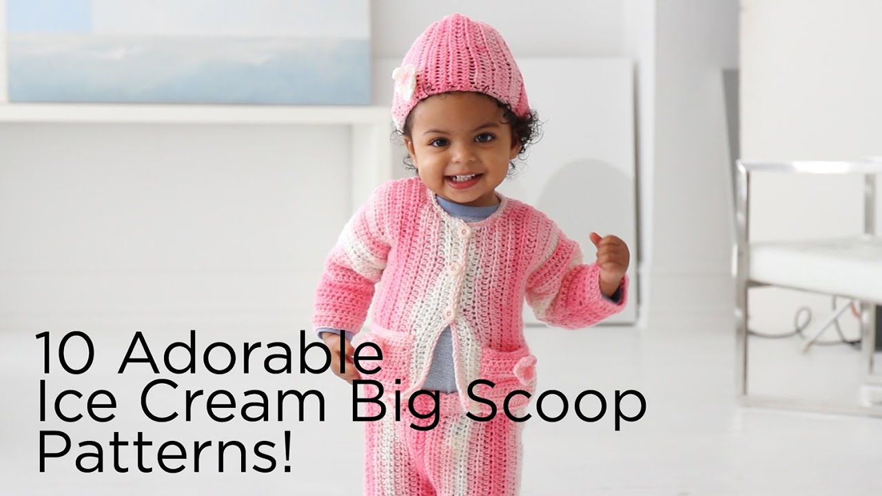 10 Adorable Patterns You Can Make With 1 Ball of Ice Cream Big Scoop ...