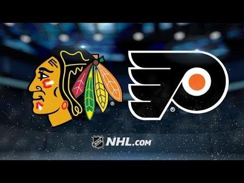 CHICAGO BLACKHAWKS VS PHILADELPHIA FLYERS 11/9/17