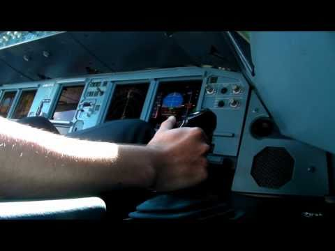 A320 Take off and landing sidestick view/ A320 Despegue y aterrizaje vista de sidestick