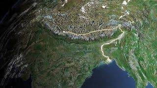 Asien-Indien-Brahmaputra - Der große Fluss vom Himalaya2 - Aus der Schlucht zur Tiefebene - deutsch
