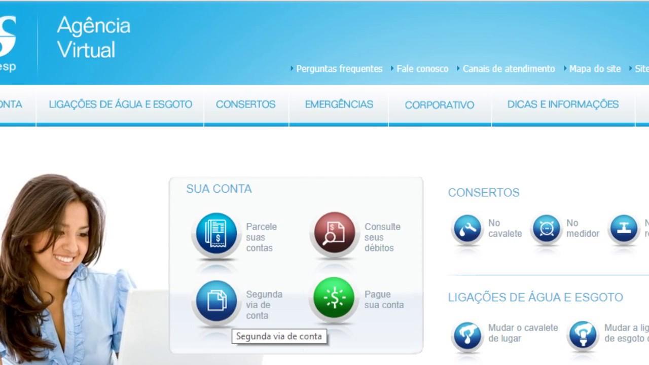 Sabesp 2ª Via Da Conta De Agua Online Site Da Sabesp Nova Conta