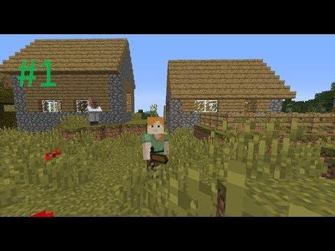 Minecraft - Super survival (1) - Surviving my first night