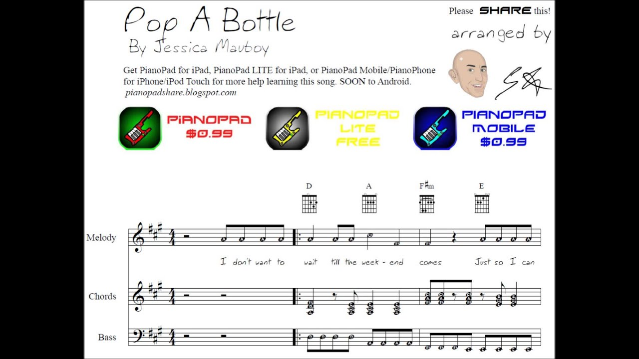 Pop a bottle jessica mauboy sheet music tutorial youtube pop a bottle jessica mauboy sheet music tutorial hexwebz Gallery