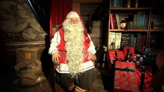 Message du Père Noël de la Laponie, Finlande, Rovaniemi   Papa Noël