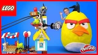LEGO Angry Birds & CHUCK Play-Doh Surprise Egg, 75824 LEGO Time Lapse Build & Unboxing | KIDCITY