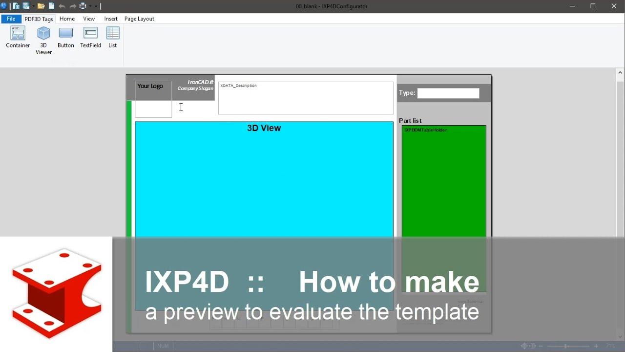 IXP4D - 3D PDF DESIGNER
