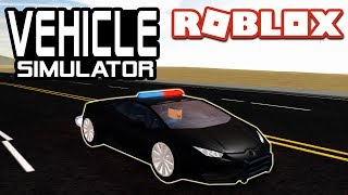 LAMBORGHINI POLICE CAR in Vehicle Simulator | Roblox