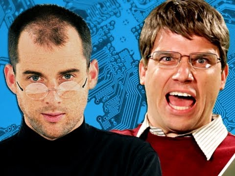 Видео: Steve Jobs vs Bill Gates.  Epic Rap Battles of History Season 2