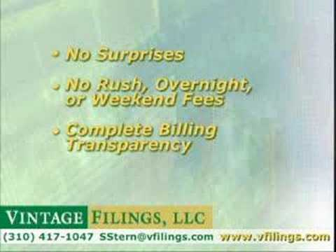 Vintage Filings Introduction