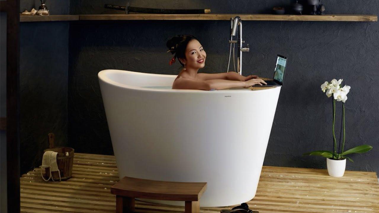 Aquatica True Ofuro Tranquility Heated Japanese Bathtub - YouTube
