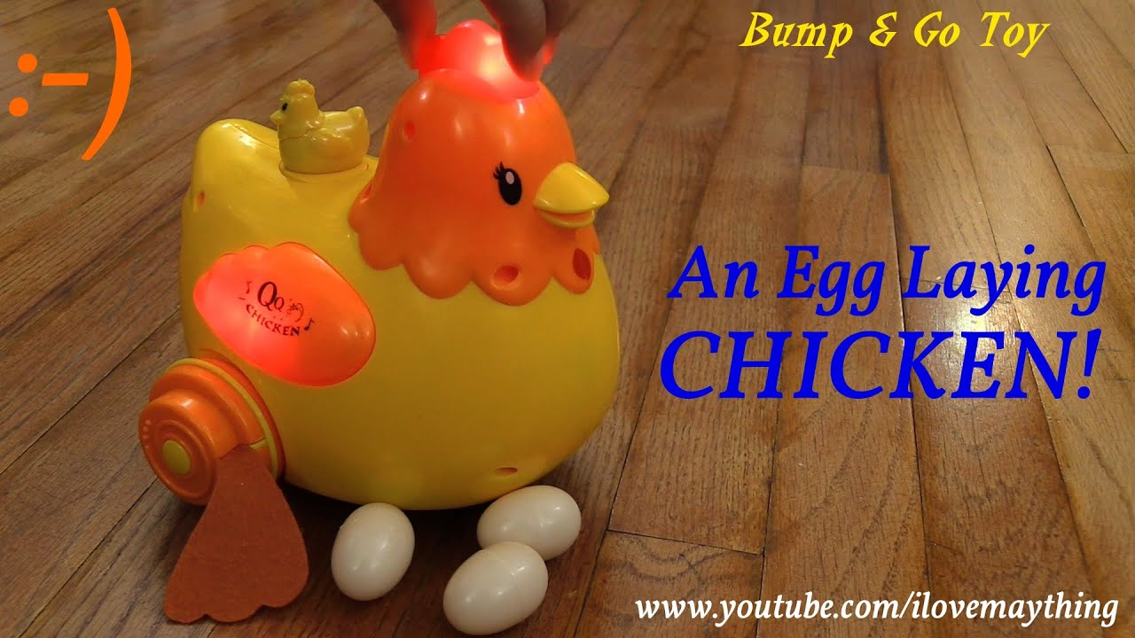 Cute Toys for Toddlers: An Egg Laying Chicken Bump & Go Toy Unboxing ...