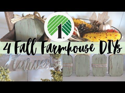 4 FALL FARMHOUSE DOLLAR TREE DIY | FALL DIYS | FALL FARMHOUSE | SIMPLE AND EASY FALL DIYS