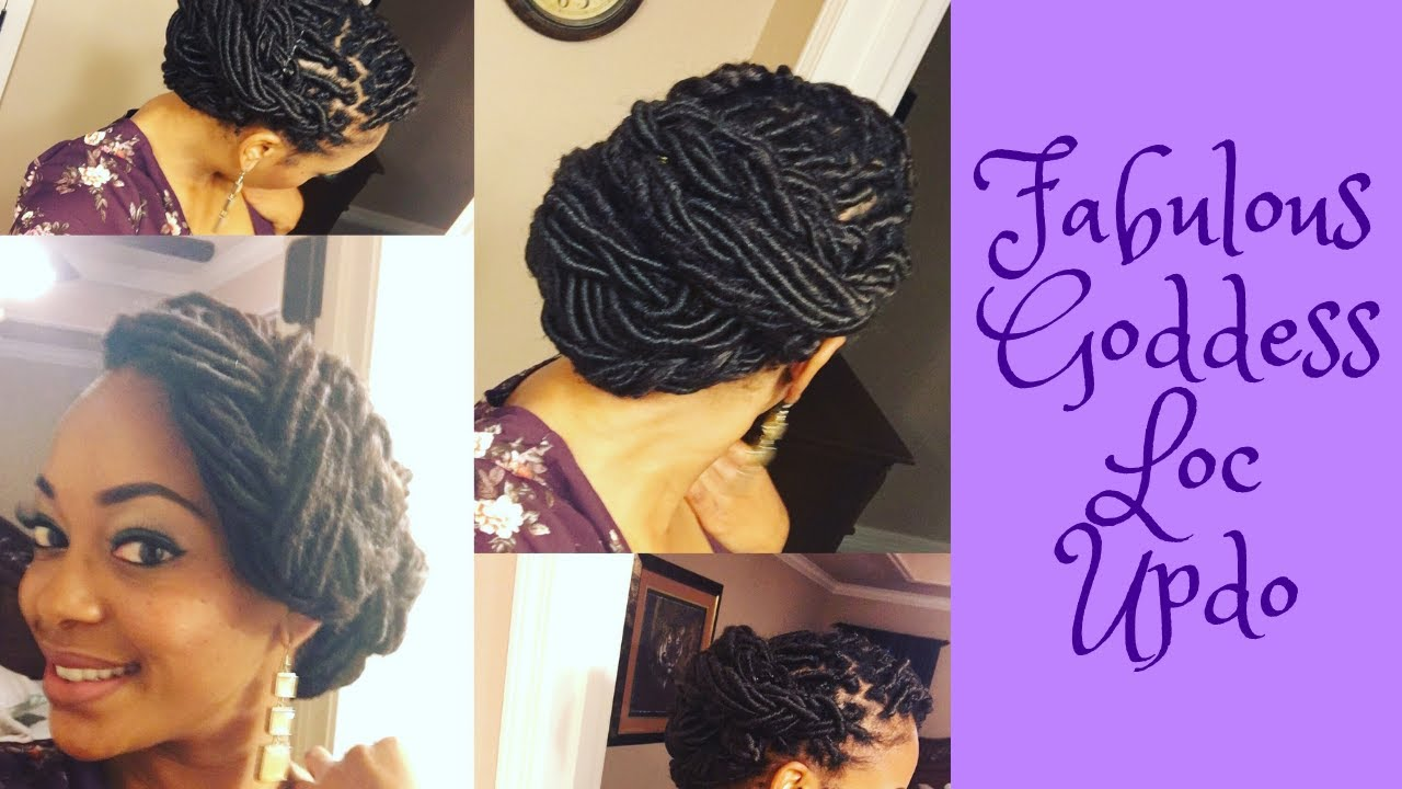 Simple Dess Loc Updo You