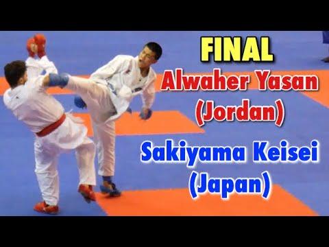 FINAL Sakiyama Keisei (Japan) Vs Alwaher Yasan (Jordan) -  AKF Championship 2019 - Kumite -76 Kg