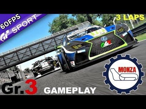 GT SPORT   (NEW 1.11 UPDATE) Monza Gr.3 Gameplay   Hard Difficulty