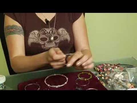 Beaded Jewelry Basics : Beading a Memory Wire Necklace