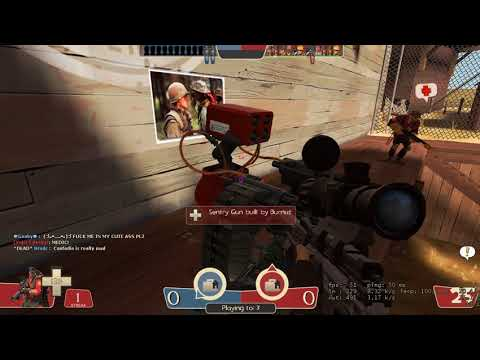 Random TF2 gameplay. 2Fort silly salty script kiddie