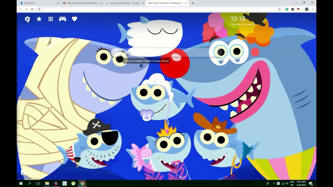 Cute Baby Shark Doo Doo Pinkfong Hd Wallpaper Theme Must Have